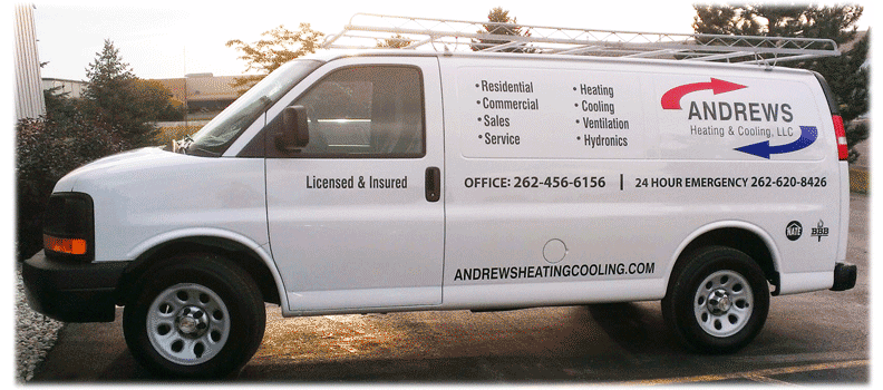 Andrews Heating HVAC service van